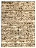 HAMID - Alfombra Kilim Montana con Diseño Rustico - 100% Lana - Alfombra Anudada a Mano - Alfombra de Salón, Dormitorio, Sala de Estar – Tonos Marrones y Beige - Diseño (Beige, 160x230cm)