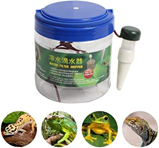dissylove 1300 Ml Reptiles Water Dispenser Water Purifier System with Suction Cup - Reptile Humidifier Automatic Drinking Water - Chameleon Dropper Drinker