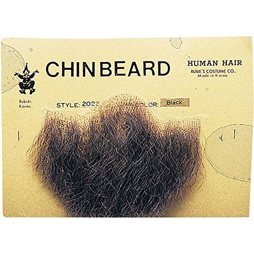 Rubie's Costume Co Gentlemans Black Human Hair Goatee Chin Beard One Size, Multicolor 2022