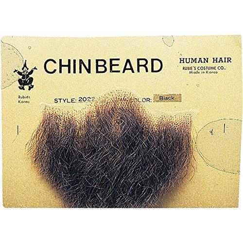 Rubie's Costume Co Gentlemans Black Human Hair Goatee Chin Beard One Size,...