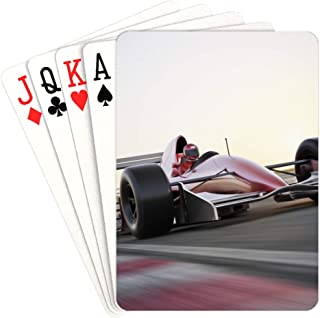 NaNa Custom Playing Cards Race Car in Racing Car Track Playing Cards for Girls Unique for Kids & Adults Card Decks Games Standard Size