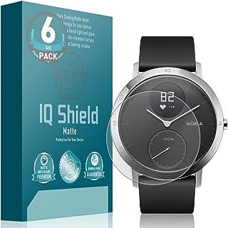 IQ Shield Matte Screen Protector Compatible with Nokia Steel HR (40mm)(6-Pack) Anti-Glare Anti-Bubble Film