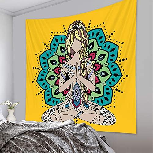binghongcha Tapiz 3D Yoga Tapices Mat Manta De Toalla De Playa, Sábana De Playa De Picnic, Boho, Colgante De Pared Decorativo A4249 180(H) X230(An) Cm
