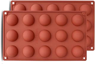 Topinon 15 Half Sphere Silicone Mould Tray for Cake Or Chocolate Ball Dome Shape (3.8 cm Diameter of Each Cavity, Multicolor)