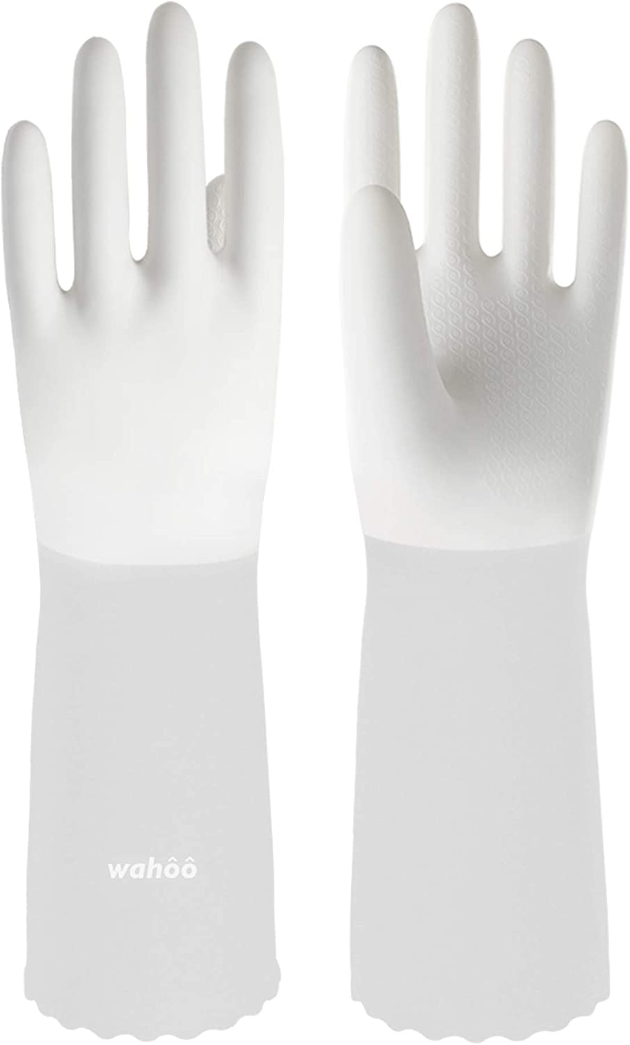 LANON Wahoo Animer and price revision Wholesale PVC Household Cleaning Unlined Dish Reusable Gloves