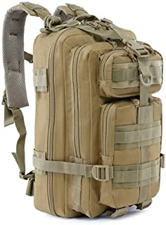 Roaring Fire Military Tactical Assault Backpack, EDC Outdoor Backpack, Trekking Backpack, 30L Army Rucksack Molle Bug Out ...