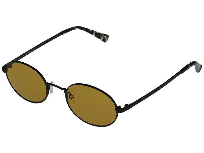 VonZipper  Scenario (Black Satin/Amber/Orange) Fashion Sunglasses