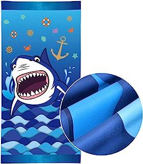 WERNNSAI Toallas de Playa Tiburón - 76 × 152cm Microfibra Azul Manta de Playa Prueba de Arena Absorbente Seque Rápidamente Nadar Playa Toallas Piscina Shark Suministros para la Fiesta