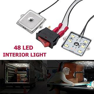 Naliovker 2 Lampadina da 6 LED SMD LED Festoon Cupola Bianca 36 Mm