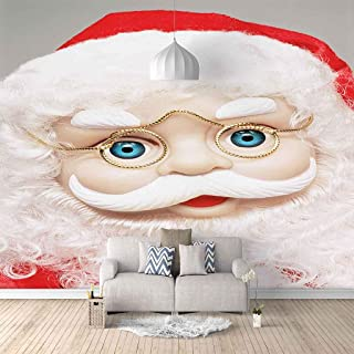 VITICP Adults Kids Wall Stickers Decals Peel and Stick Removable Wallpaper Cartoon Santa Background for Nursery Bedroom Li...