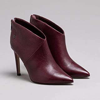 Ankle Boot Couro Cacau