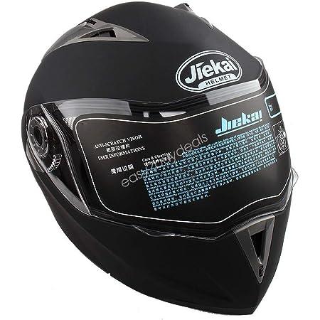 Estink Motorradhelm Genehmigt Integralhelm Fullface Klapphelm Motorrad Roller Sturz Helm Mit Sonnenblende 61 62 Cm Xl Matt Schwarz Auto