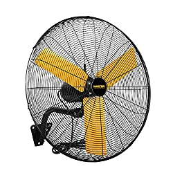 should a fan be placed in a garage?