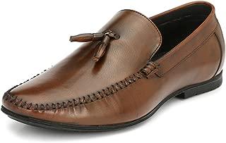 San Frissco Men's Tan Leather Moccasins - 10 UK