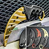 Tactical Knife Hunting Knife Survival Knife 7.5' Fixed Blade Knife FULL METAL TRAINING KARAMBIT with DULL EDGE Camping Accessories Camping Gear Survival Kit Survival Gear Tactical Gear 79439 (Gold)