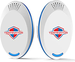 Terminator Ultrasonic Pest Repeller 2019 | Best Pest Repellent Plug in | Get Rid of Flea, Rats, Roaches, Cockroaches, Fruit Fly, Rodent, Mosquito, Ants & Any Kind of Insects | Indoors & Outdoors