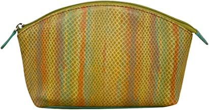 ili New York 4581 Leather Snake Skin Print Cosmetic Pouch (Citrus)