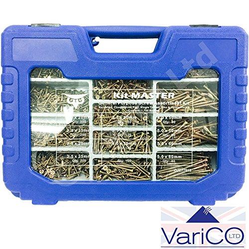 Caja de 100 tornillos para madera ForgeFast de Forgefix ZY 5 x 90 mm