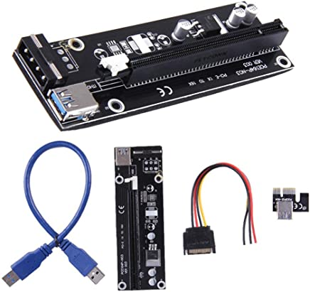50cm heaven2017 USB 3.0 PCI-E Express 1X to 16X GPU Extender Riser Card Adapter Power Cable