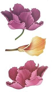 Waterproof Temporary Tattoo Sticker Sexy Breath Flower Birds Gun Feather Water Transfer Fake Flash Tattoo,Black