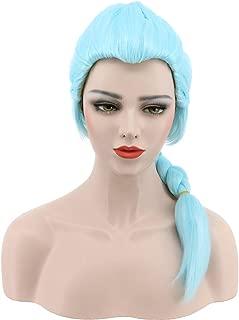 Karlery Women's Long Braided Fake Hair Blue Halloween Cosplay Wig Anime Costume Party Wig