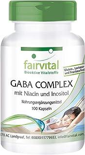 GABA Complex - Ácido Gamma-Aminobutírico + Niacina e Inositol - Suplemento VEGANO - Dosis elevada - 100 Cápsulas - Calidad Alemana