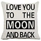 (20 50cm, Yanyu2_3) - I Love You to The Moon and Back Pillow Covers Cotton Linen Sunshine Home Decor Cushion Covers Saying Home Pillowcases 50cmx 50cm