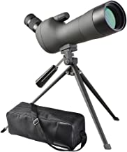 AW 20-60x60mm Zoom Angled Spotting Scope Monocular Telescope Angled Eyepiece Waterproof with Tripod & Soft Case