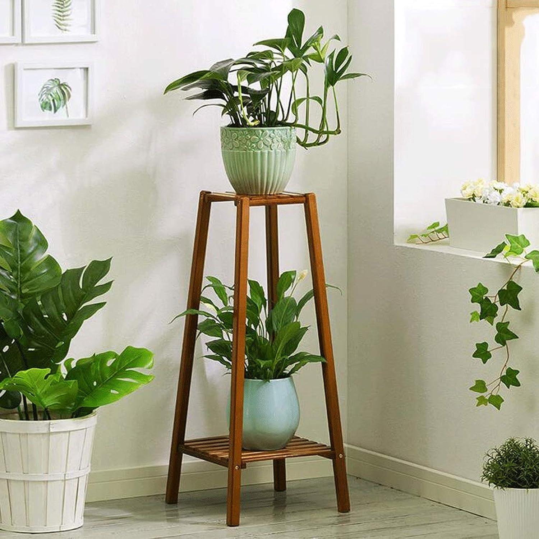 Living Room Multi-Storey Tower Flower Shelf Solid Wood Floor Balcony Province Space Fleshy Indoor Flower Pot Rack Bronze