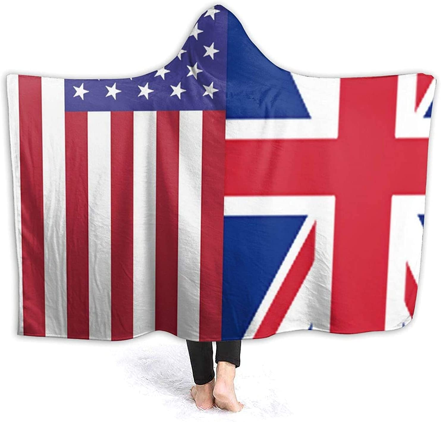 Blanket Fuzzy Soft Flag of F and American Hooded Max 90% OFF Ranking TOP20 Britain