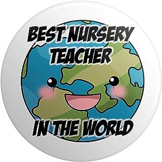 Grand badge épingle – Cadeau pour enseignant – Cadeau de remerciement – Meilleur professeur de crèche au monde
