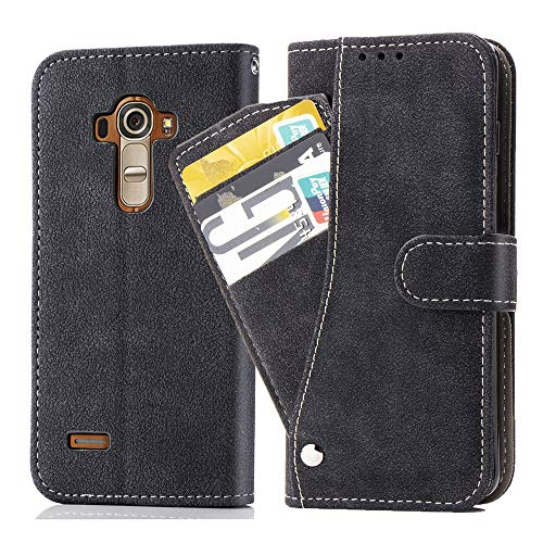 Asuwish LG G4 Wallet Case,Leather Phone Cases with Credit Card Holder Slot Kickstand Stand Slim Full Body Flip Folio Protective Cover for LG G4 Women Men Girls Black