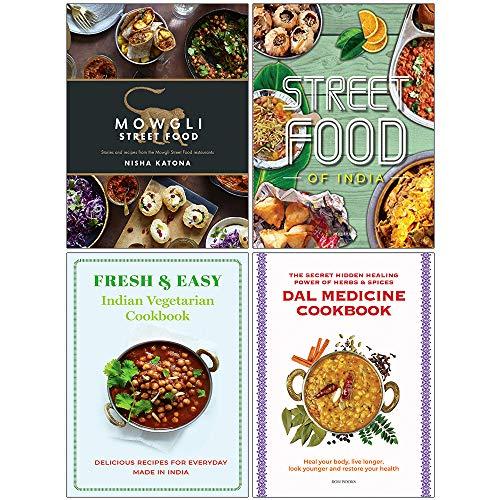 Mowgli Street Food [Hardcover], Fresh & Easy Indian Street Food, Indian Vegetarian Cookbook, Dal...
