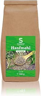 Schoefer Naturprodukte BIO Hanfmehl - proteinreich - hoher Eiweißgehalt - 100 % vegan und glutenfrei - für Low-Carb Ernährung - nachhaltig - 500 g Packung