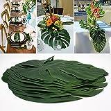 WINOMO 12stk Künstliche Tropische Palme Verlässt Simulations Blatt für Hawaiische Luau Partei Dschungel Strand Thema Dekorationen - 4