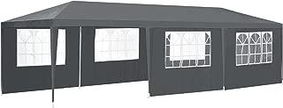 ArtLife Partyzelt 3 x 9 m grau | 8 Seitenwände + Wasserabweisende Bespannung + Metall Gestell | Festzelt Bierzelt Pavillon
