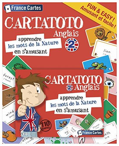 Cartatoto - Anglais 2 - Les Mots De La Nature - Jeu de Cartes Educatif