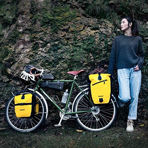 Rhinowalk Fahrradtasche wasserdichte Fahrradtasche 27L, (für Fahrrad Gepäckträger Satteltasche Umhängetasche Laptop Gepäckträger Fahrradtasche Professionelles Fahrradzubehör)-Gelb - 7