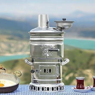 Tubibu Samovar calentador de agua de energía libre té incluido 4l / 150 oz Semaver Samavar Barco Camping Senderismo Caza Yachting Tetera