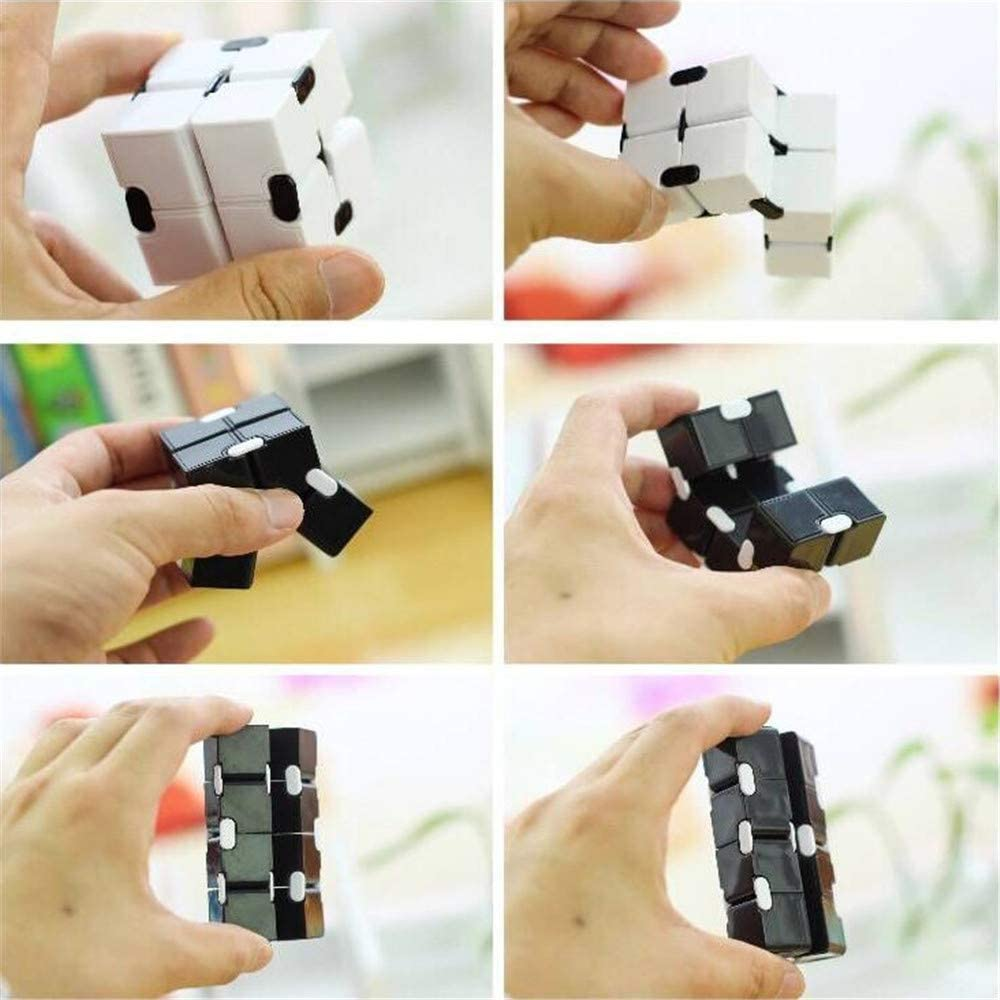 Cubo Sensorial Infinito,Sensory Infinity Cube,Aliviar El Estr/és,La Ansiedad,El Autismo,Sensory Infinity Cube Stress Fidget Toys,Adecuado Para Ni/ños,Adultos,Juguetes Interesantes. 6 PCS Aleatorio