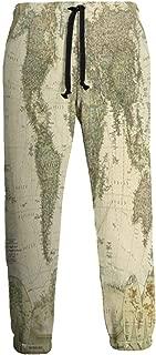 Cyloten Sweatpants Ancient World Map Men's Trousers Cotton Baggy Sweatpants Novelty Pants for Daily