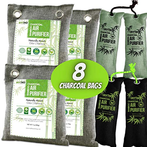 Nature Fresh Air Purifier Bags, Bamboo Charcoal Air Purifying Bags, Activated Charcoal Air Purifying Bag Odor Eliminators For Home, Activated Charcoal Odor Absorber, Odor Eliminator, Closet Deodorizer