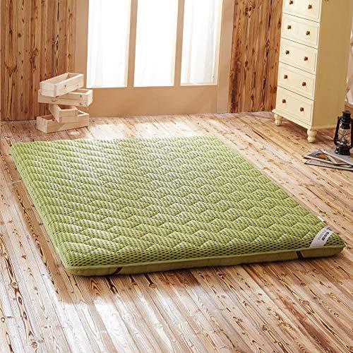 RZH Hohe Qualität Massage Matratze Doppel Einzigen Schlafsaal Matratze Bambus Faser Leinen Tatami,Grün,120x200cm
