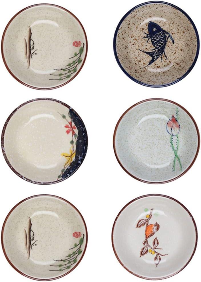 Angoily 6pcs Ceramic Dip Bowls Japanese Ranking TOP15 Direct store S Soy Dish Dipping Sauce