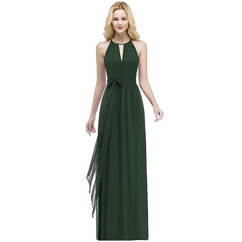 Abendkleid lang grun chiffon
