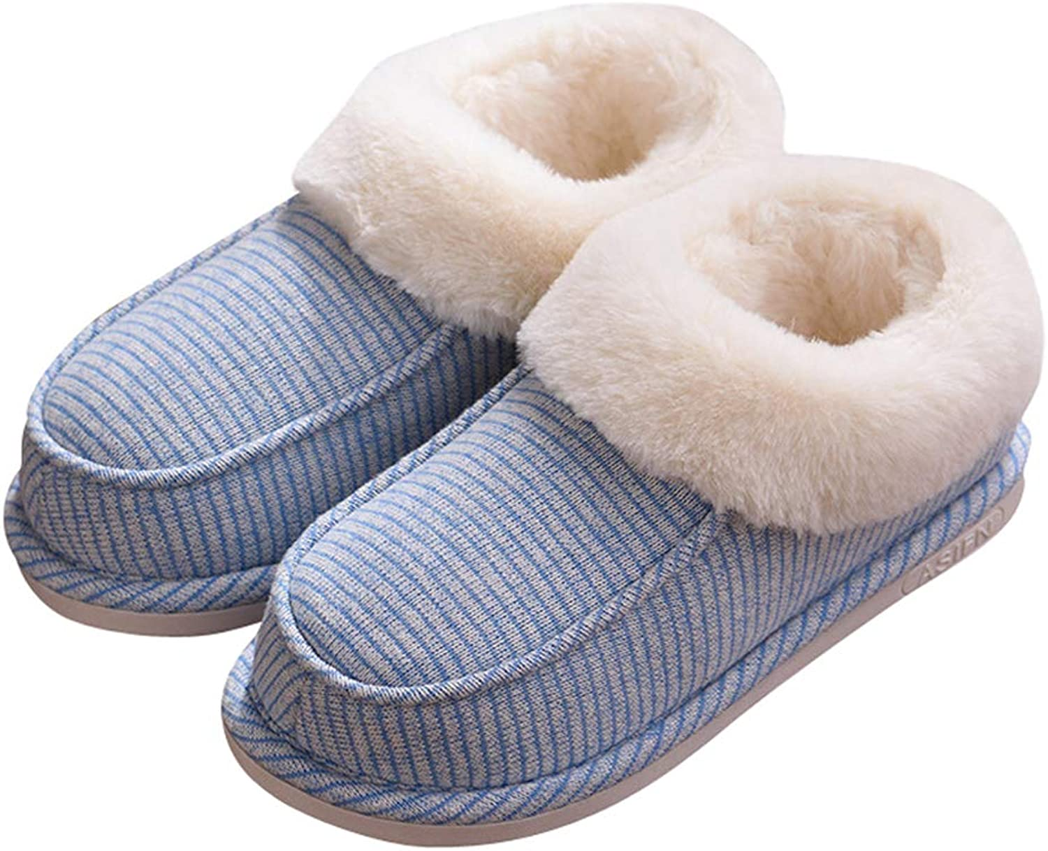 Baviue Womens Thermal Fuzzy House Outdoor Boot Slippers Ladies Booties