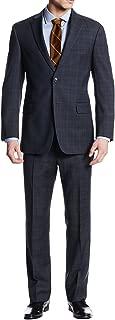 Two Button Men's Suit Nathan Plaid Trim-Fit Blazer Two Piece