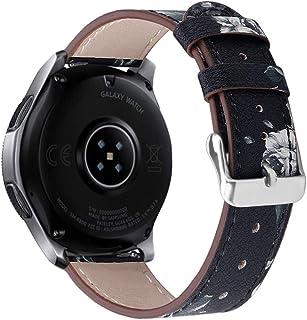 ❄TianranRT❄ Correa de Cuero de Lujo de Repuesto Para Reloj de 46Mm de Samsung