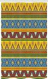 ABAKUHAUS aztekisch Schmaler Duschvorhang, Volksmotiv Mexikanische Sonne, Badezimmer Deko Set aus Stoff mit Haken, 120 x 180 cm, Mehrfarbig