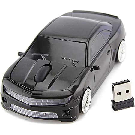 FASBEL for CL Racing Sports Car Mouse Wireless Mice Computer Laptop PC Optical Mouse (Black)